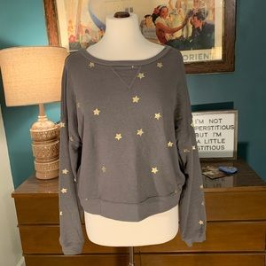 Soft Gray and Gold Star long sleeve